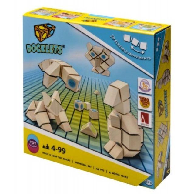 Obrázek produktu Dřevěné kostky na suchý zip Universal Beluga Docklets