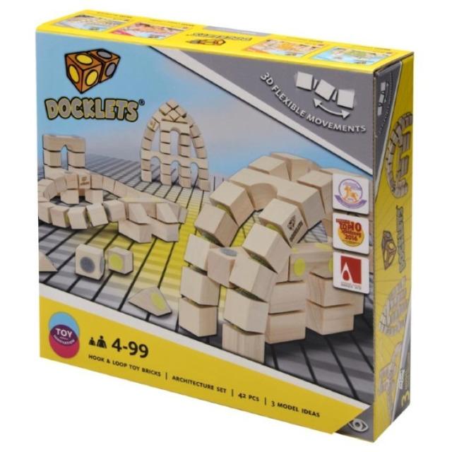 Obrázek produktu Dřevěné kostky na suchý zip Architektura Beluga Docklets