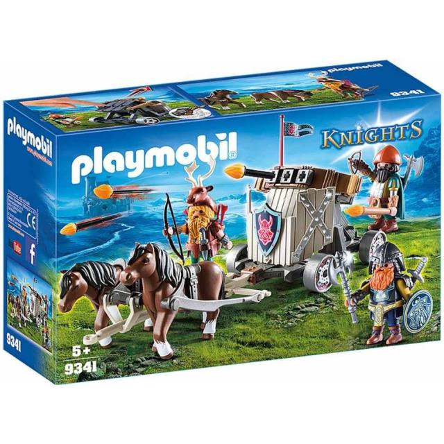 Obrázek produktu Playmobil 9341 Poníci táhnoucí balistu s trpaslíky
