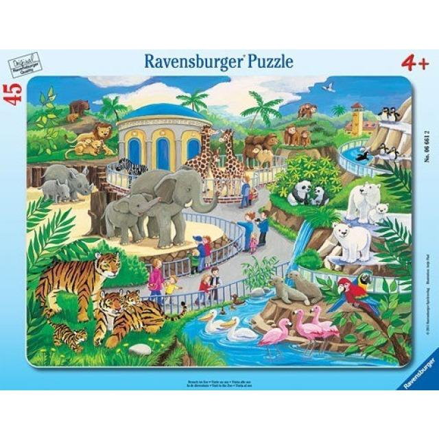 Obrázek produktu Ravensburger 06661 Puzzle Návštěva v ZOO 45 dílků