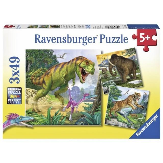 Obrázek produktu Ravensburger 09358 Puzzle Dinosauři a čas 3x49 dílků