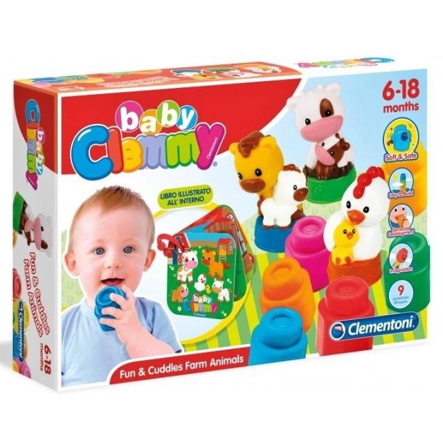 Obrázek produktu Clemmy Baby kostičky s knížkou, hospodářská zvířata
