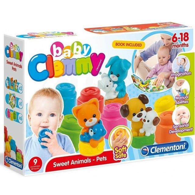 Obrázek produktu Clemmy Baby kostičky s knížkou, domácí zvířata