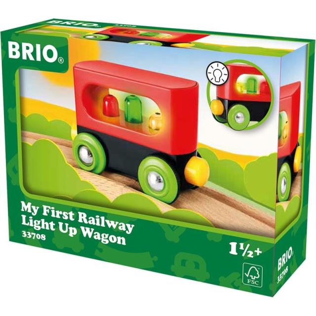 Obrázek produktu BRIO 33708 Moje první železnice svítící vagón