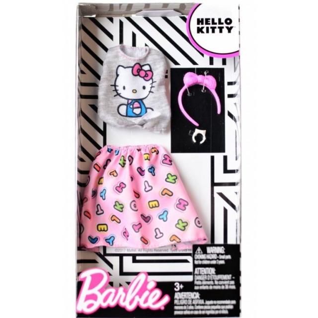 Obrázek produktu Barbie Šaty Hello Kitty šedorůžové, Mattel FKR68