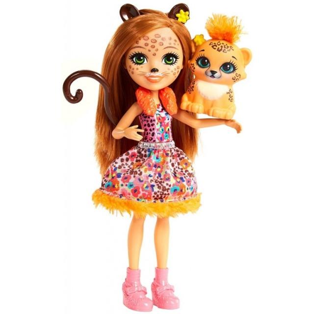Obrázek produktu ENCHANTIMALS Panenka se zvířátkem Cherish Cheetah a Quick-Quick, Mattel FJJ20