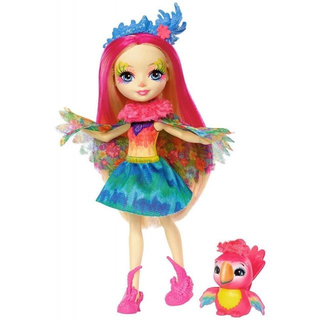 Obrázek produktu ENCHANTIMALS Panenka se zvířátkem Peeki Parrot a Sheeny, Mattel FJJ21