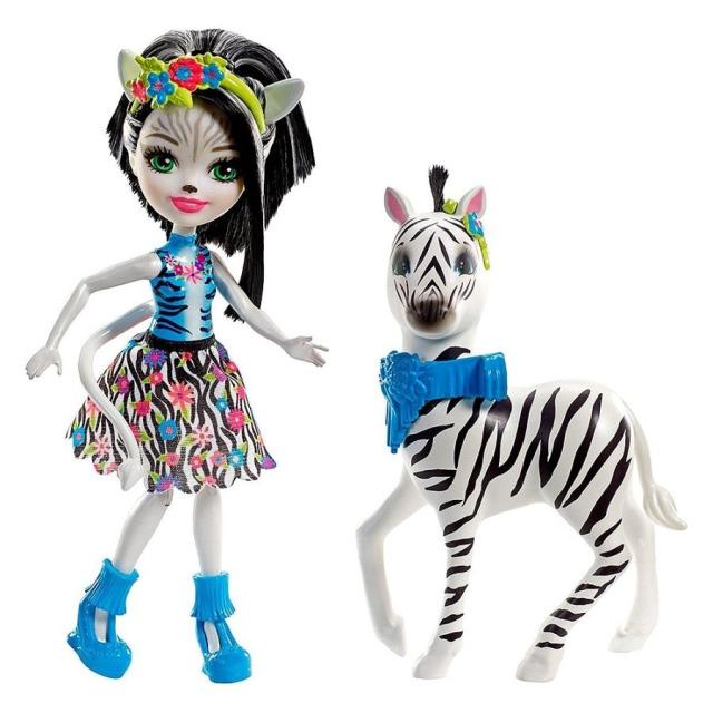Obrázek produktu ENCHANTIMALS Panenka Hoofette a zebra Zelena, Mattel FKY75