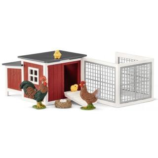 Obrázek 1 produktu Schleich 42421 Set kurník se zvířátky a příslušenstvím