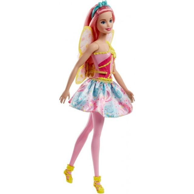 Obrázek produktu Barbie Víla růžové vlasy, Mattel FJC88