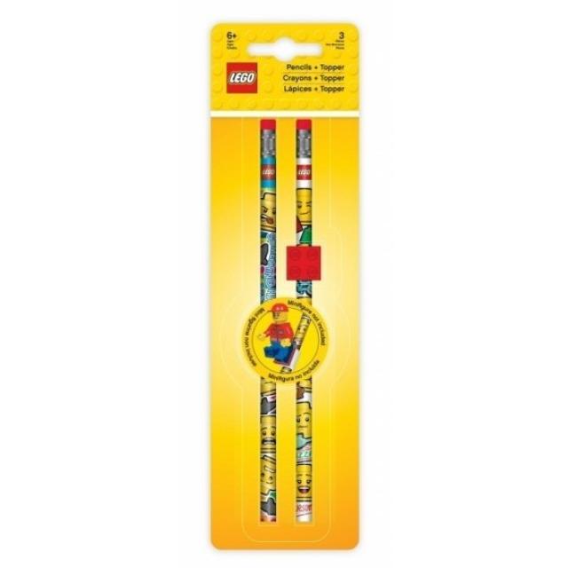 Obrázek produktu LEGO Iconic Tužka grafitová s gumou a LEGO klipem - 2 ks