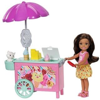 Obrázek 1 produktu Barbie Chelsea, Skipper a stánek se zmrzlinou, Mattel FDB33
