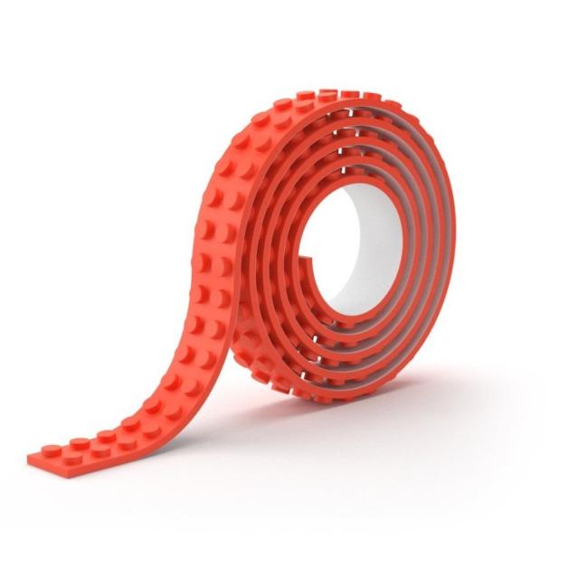 Obrázek produktu Lepící páska kostičky červená