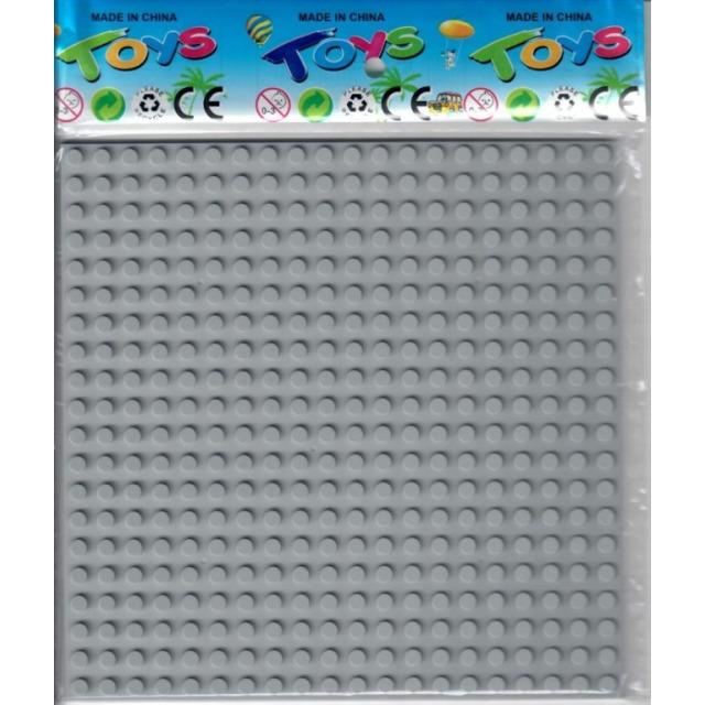 Obrázek produktu Podložka pro stavebnice kompatibilní šedá 16 x 16 cm