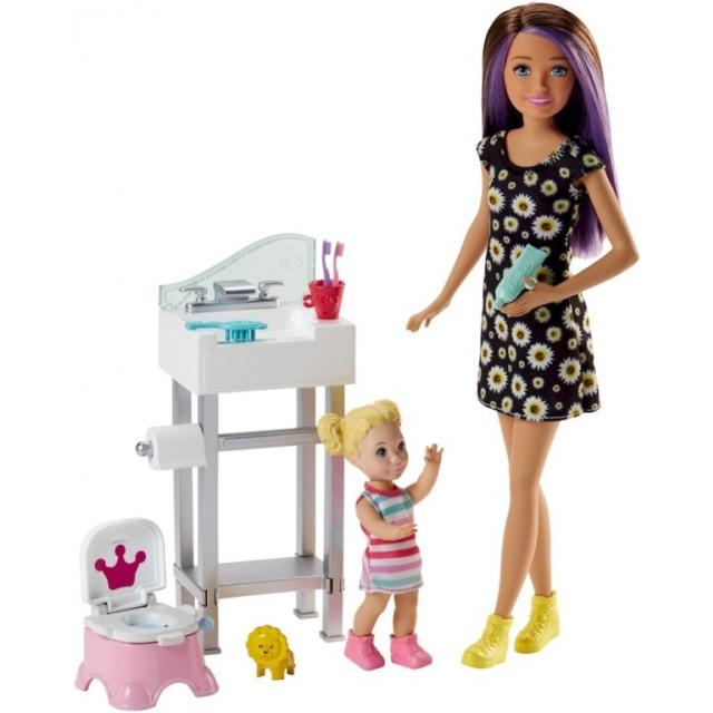 Obrázek produktu Barbie Chůva herní set v koupelně, Mattel FJB01