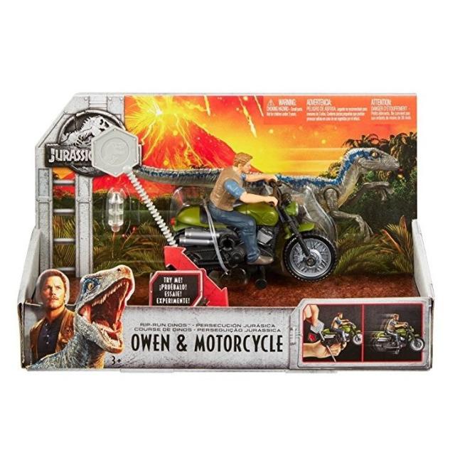 Obrázek produktu Jurský svět, Owen a jeho motocykl s natahovacím lankem