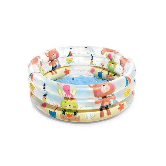 Obrázek produktu Intex 57106 Bazének pro miminka tříkruhový zvířátka