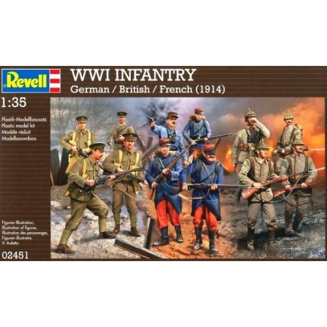 Obrázek produktu Revell 02451 WWI INFANTRY German, British & French (1914) 1:35