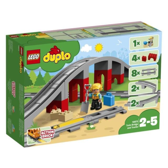 Obrázek produktu LEGO DUPLO 10872 Doplňky k vláčku – most a koleje