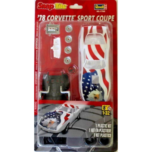 Obrázek produktu Revell 1750 SnapTite '78 Corvette Sport Coupe 1:32