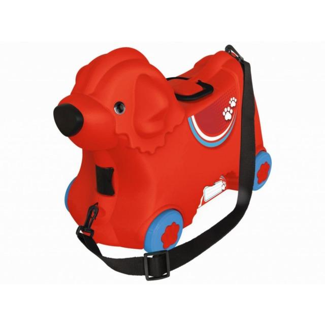 Obrázek produktu BIG Kufřík odstrkovadlo pejsek červený s kolečky