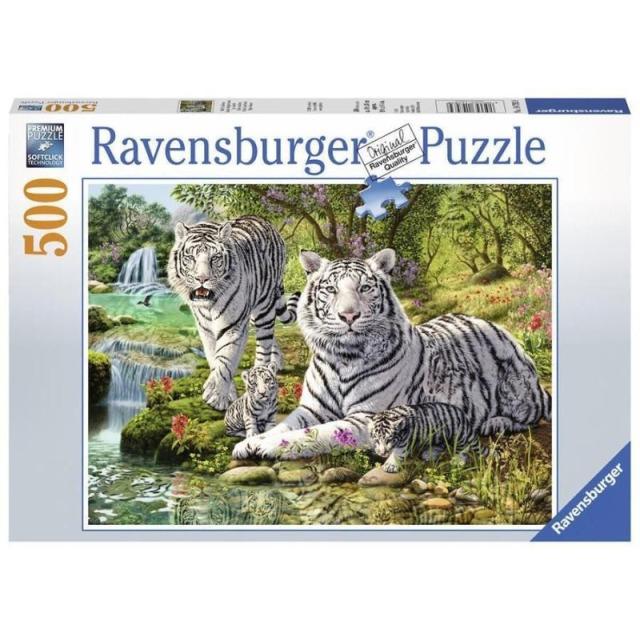 Obrázek produktu Ravensburger 14793 Puzzle Bílé kočky loupežnice 500 dílků