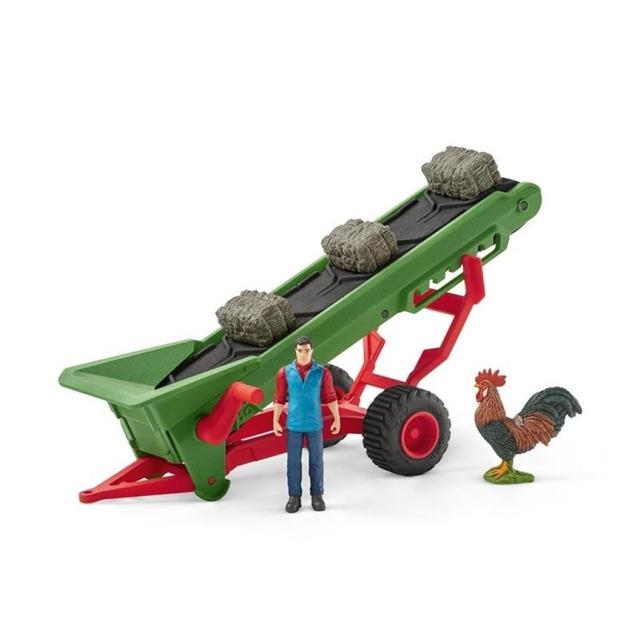Obrázek produktu Schleich 42377 Zemědělský dopravaník na seno s farmářem