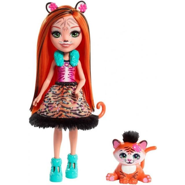 Obrázek produktu ENCHANTIMALS Panenka se zvířátkem Tanzie Tiger a Turt, Mattel FRH39
