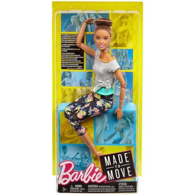 Obrázek produktu Barbie Panenka V pohybu, hnědovláska, Mattel FTG82