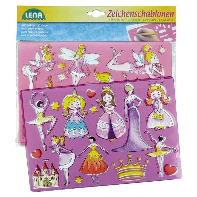 Obrázek produktu Lena kreslící šablony princezny, baletky