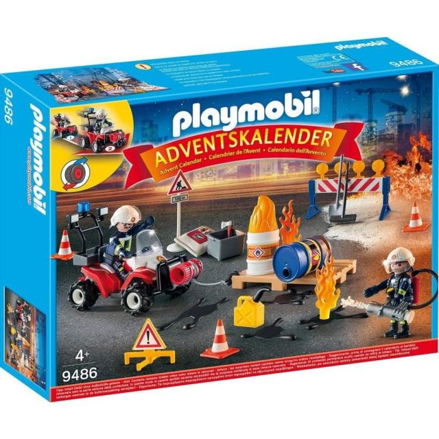 Obrázek produktu Playmobil 9486 Adventní kalendář Zásah hasičů