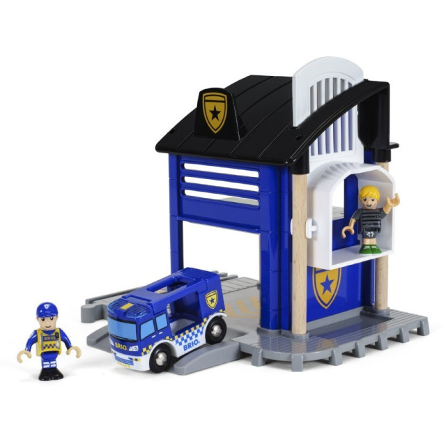 Obrázek produktu BRIO 33813 Policejní stanice se světlem a zvukem