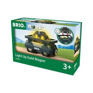 Obrázek 1 produktu BRIO 33896 Svítící vagón se zlatem