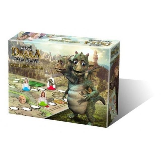 Obrázek produktu Když draka bolí hlava společenská hra v krabici 30x20x6cm
