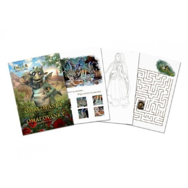 Obrázek produktu Omalovánky a zábavné hraní Když draka bolí hlava, 24 stran A4