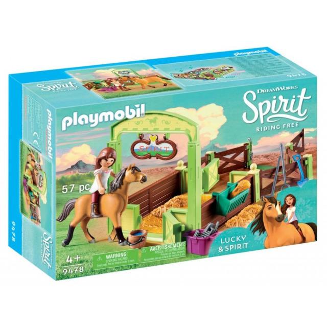 "Obrázek produktu Playmobil 9478 Koňský box ""Lucky & Spirit"""