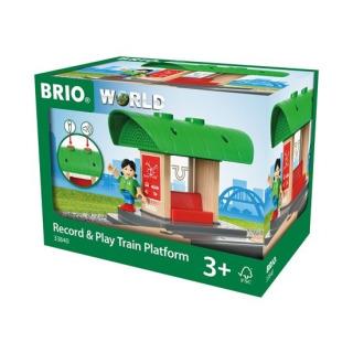 Obrázek 1 produktu BRIO 33840 Nástupiště s vlastním hlášením