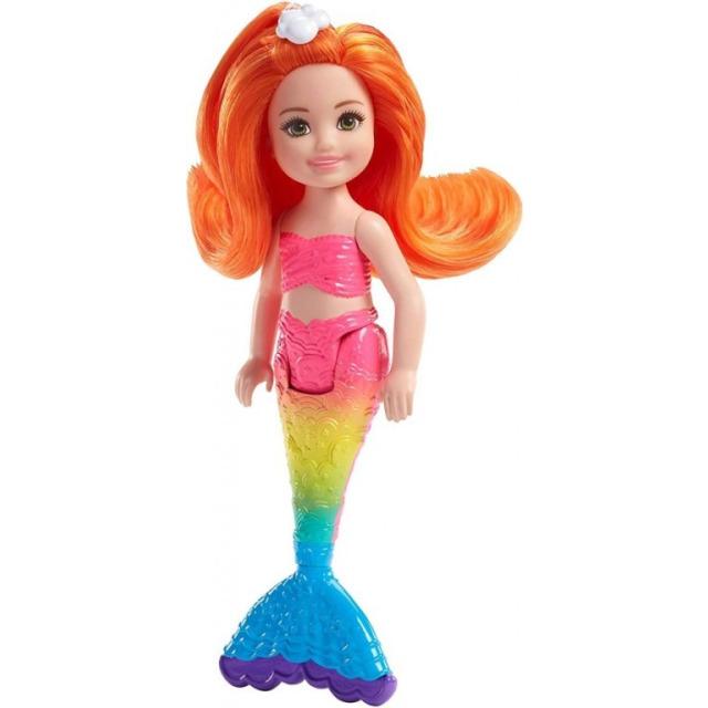 Obrázek produktu Barbie Chelsea Mořská panna - oranžové vlasy, Mattel FKN05