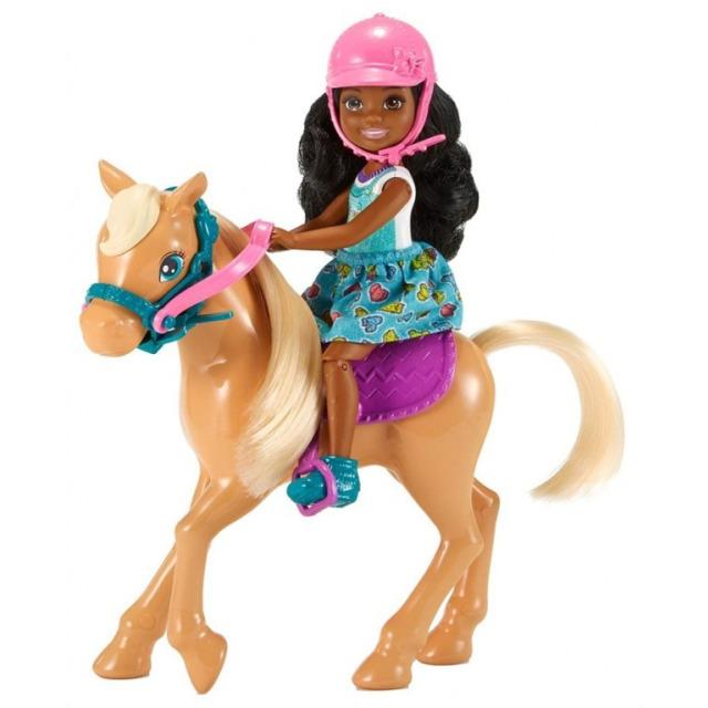 Obrázek produktu Barbie Chelsea s poníkem, Mattel FRL84