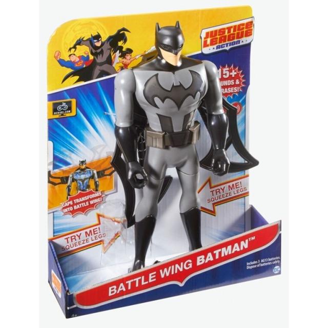 Obrázek produktu JUSTICE LEAGUE Komiksová figurka Batman, světlo, zvuk, Mattel FFM04