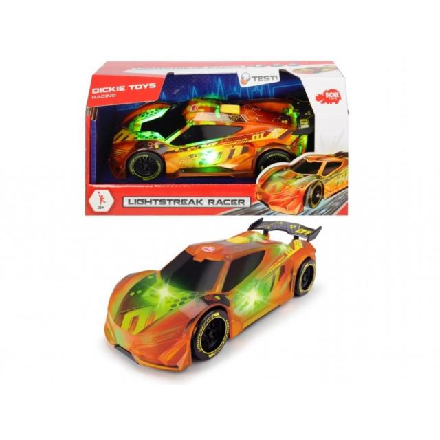 Obrázek produktu Dickie Závodní auto Lightstreak oranžové