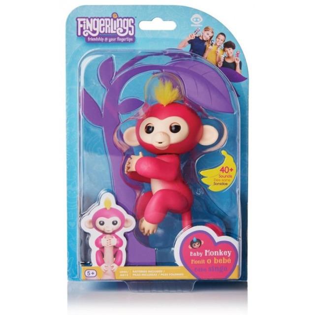 Obrázek produktu Fingerlings Opička Bella růžová