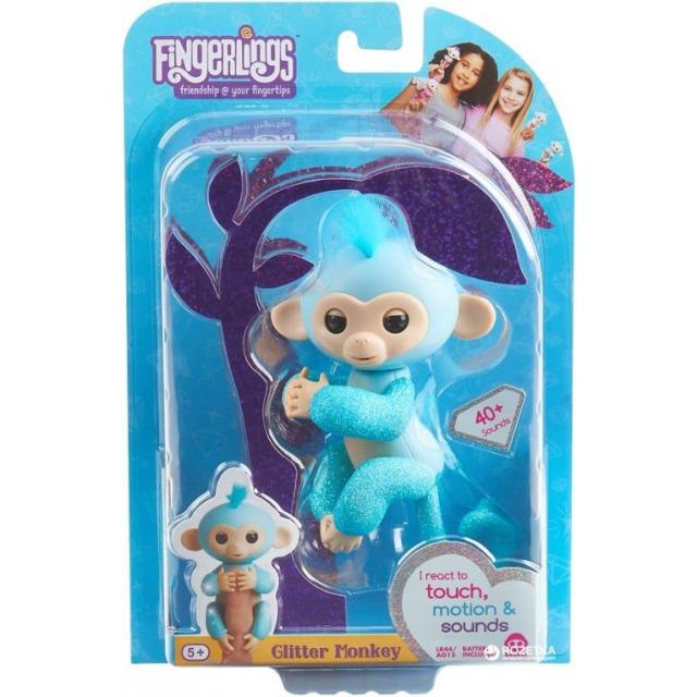 Obrázek produktu Fingerlings Opička třpytivá Amelie tyrkysová