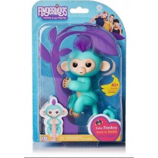 Obrázek 1 produktu Fingerlings Opička Zoe tyrkysová