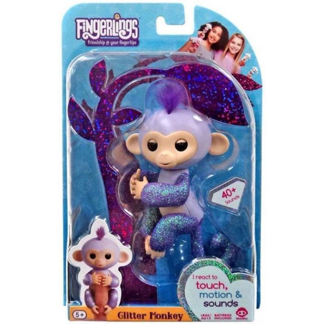 Obrázek produktu Fingerlings Opička třpytivá Kiki fialová