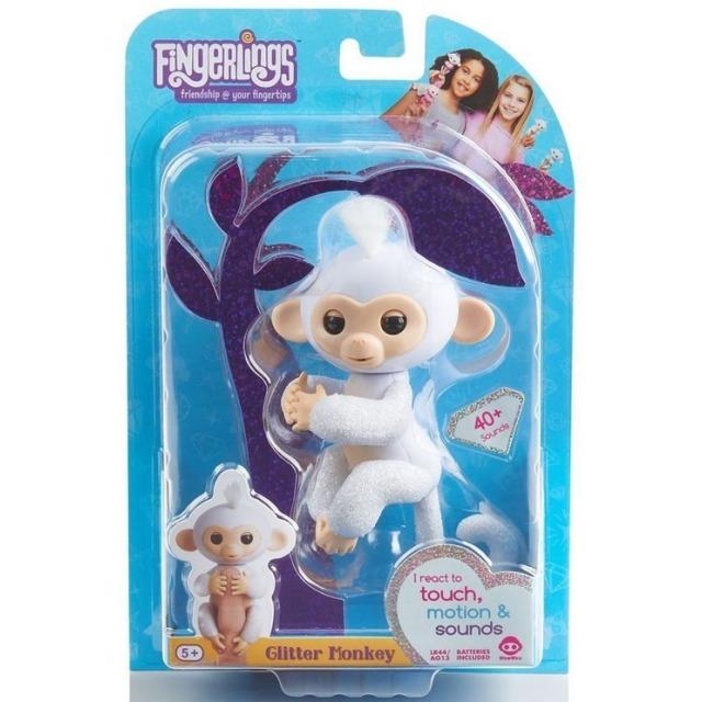 Obrázek produktu Fingerlings Opička třpytivá Sugar bílá