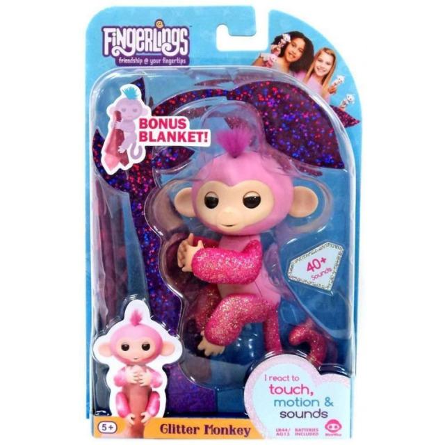 Obrázek produktu Fingerlings Opička třpytivá Rose růžová