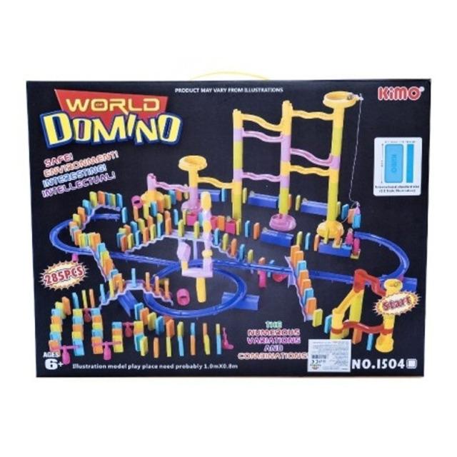 Obrázek produktu Kuličková dráha + domino, 285 ks