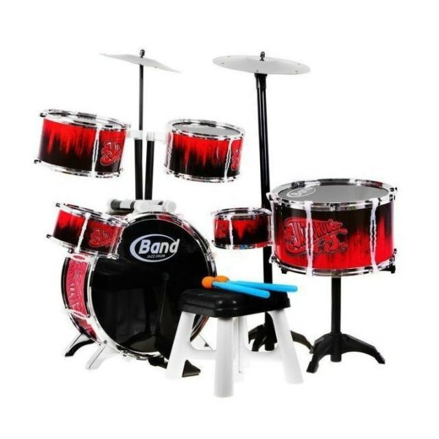 Obrázek produktu Velká sada bubnů JAZZ DRUM BAND (bicí souprava) se stoličkou 8 dílů