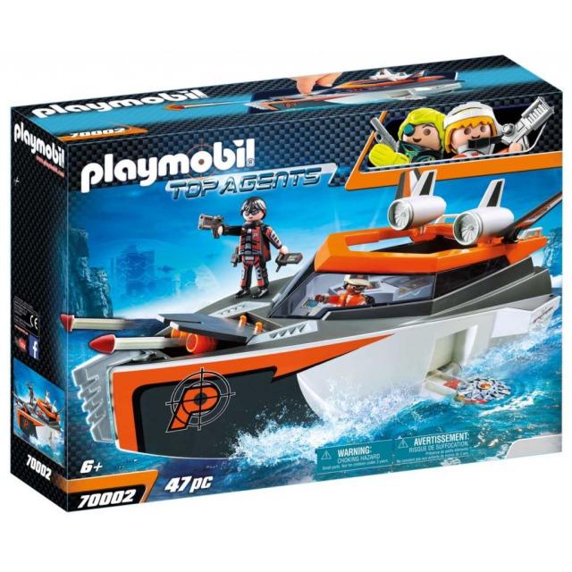 Obrázek produktu Playmobil 70002 Spy Team Turbo loď